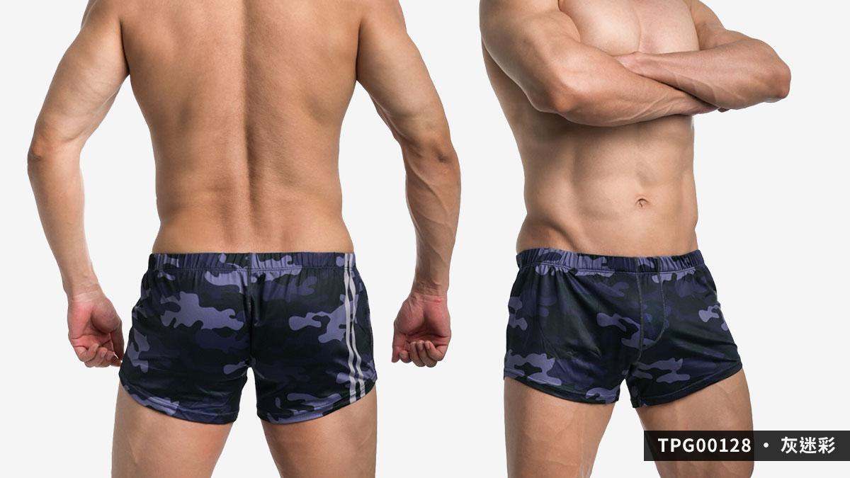 willmax,迷彩,g-cup,平口褲,男內褲,camouflage,trunks,tpg0012,green,綠色,blue,藍色,grey,灰色,tpg00128