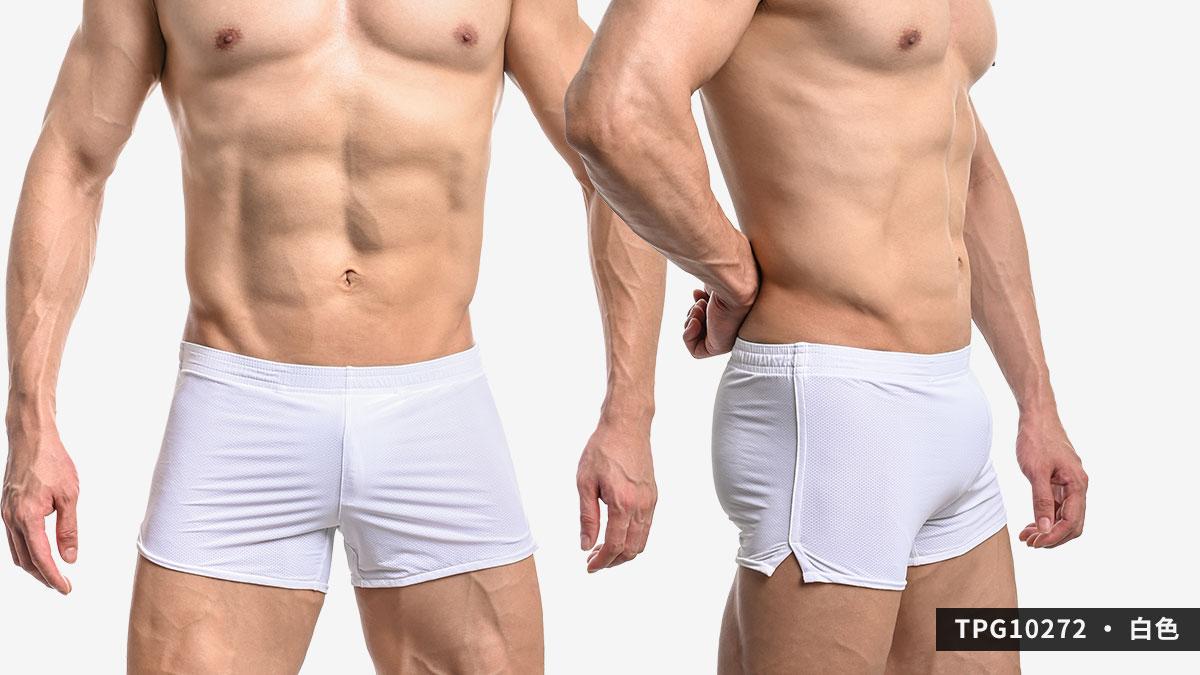 wantku,網孔,彈性,g-cup,平口褲,男內褲,mesh,elastic,trunks,underwear,tpg1027,深灰色,dark grey,白色,white,tpg10272