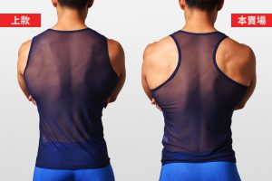 半透明,網紗,挖背,背心,translucent,mesh,tank top,singlet